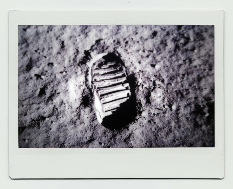 Buzz Aldrin's Footprint_Moon