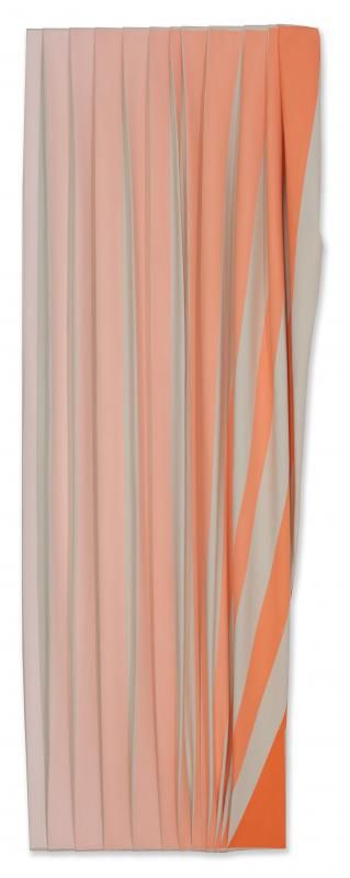 Pink to Orange Striped Folds