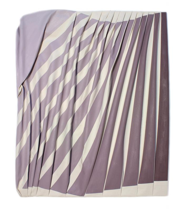 Brown to Purple Striped Folds